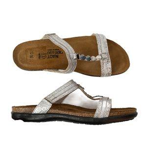 Naot Silver Slide Sandals EU38